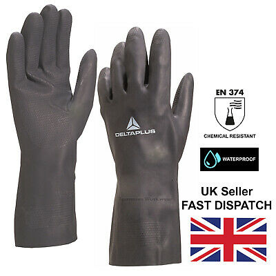 £5.69 • Buy Chemical Resistant Gloves Neoprene Hand Protection PPE Deep Clean Safety Gloves