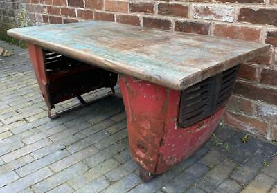 Upcycled Coffee Table - Vintage Tractor Parts - Reclaimed Wood Top • 299£