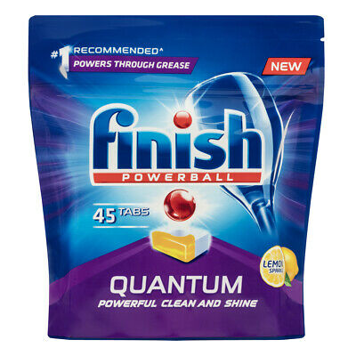 AU16 • Buy 45x Finish Tabs Lemon Sparkle PowerBall Quantum For Dishwasher Dishes Tablets