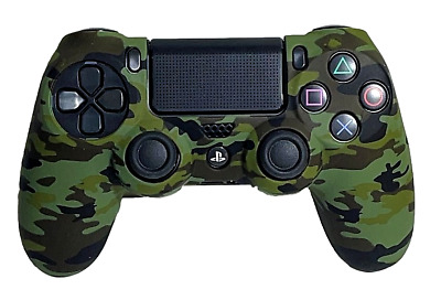 AU8.90 • Buy Silicone Cover For PS4 Controller Case Skin - Dark Green Camo