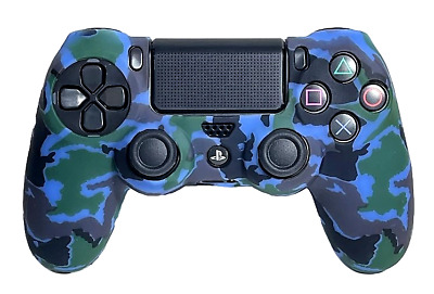 AU8.90 • Buy Silicone Cover For PS4 Controller Case Skin - Blue Camo