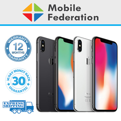 AU439 • Buy Apple IPhone X  Face ID Imperfect 64GB 256GB A1865 Unlocked [Au Stock]