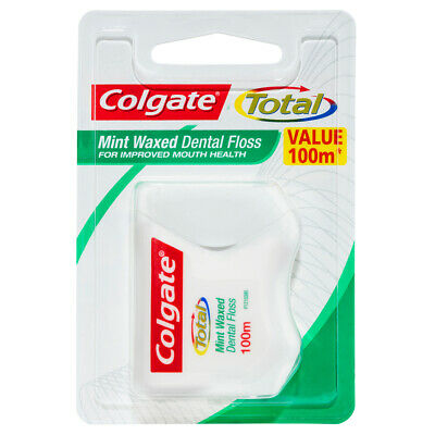 AU8.05 • Buy 100m Colgate Total Waxed Dental Floss/Flossers Teeth/Mouth/Oral Care Mint