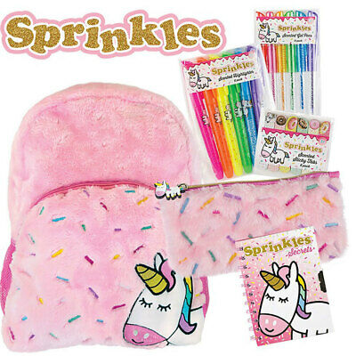 AU19.95 • Buy Sprinkles Kids Girls The Unicorn Backpack/Pencil Case/Secret Diary Kids Showbag