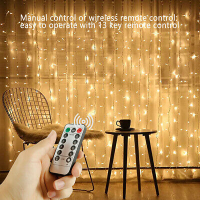 100/200/300 LED Fairy String Lights Curtain Window Wedding Decor Waterproof Home • 8.99£