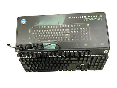 AU59.99 • Buy HP Pavilion Wired USB Mechanical Gaming Keyboard 500 3VN40AA