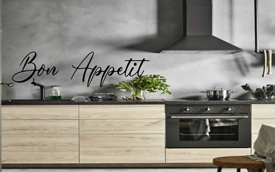 Bon Appetit Kitchen Wall Quote Stickers Funny Kitchen Vinyl Art Love Home Family • 9.99£