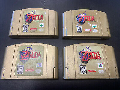 $79.95 • Buy X1 Nintendo Legend Of Zelda Ocarina Of Time N64 GOLD Collector's Ed Authentic