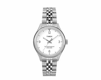 $128.95 • Buy Timex Waterbury Traditional 34mm Stainless Steel Silver Watch TW2R69400VQ