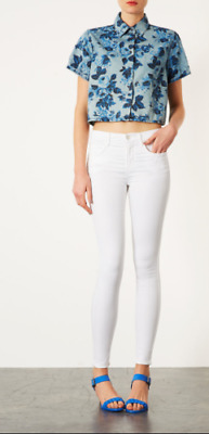 £23.99 • Buy Topshop Moto Leigh Super Soft Ankle Grazer White Ladies Skinny Jeans W28 L32-£38