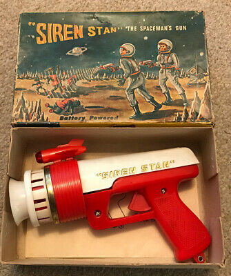 Lincoln International Siren Stan Vintage Toy Space Gun Spaceman 1960s Astronaut • 120£