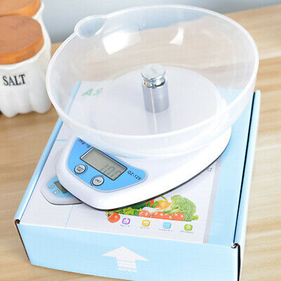 5kg LCD Digital Scales Kitchen Electronic Cooking Food Measuring With Bowl Tray  • 8.99£