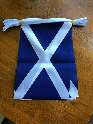 SCOTLAND Bunting - 3m (10ft) Polyester  9  X 6  Flags - 10 Flags On A Length • 4.99£