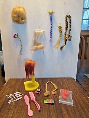 $ CDN22.78 • Buy  Lot Of 9 Vintage Barbie   Doll Wigs Hairpieces & Accessories Color Magic