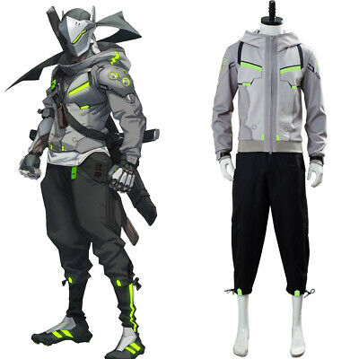 $ CDN98.34 • Buy Overwatch 2 OW Shimada Genji Cosplay Costume Hoodie Trousers Daily Wear Version