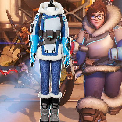 AU180.08 • Buy Overwatch OW Mei Ling Zhou Cosplay Costume Whole Set Outfit