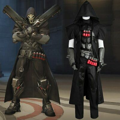 AU145.23 • Buy Overwatch OW Gabriel Reyes Reaper Cosplay Costume Uniform Outfit