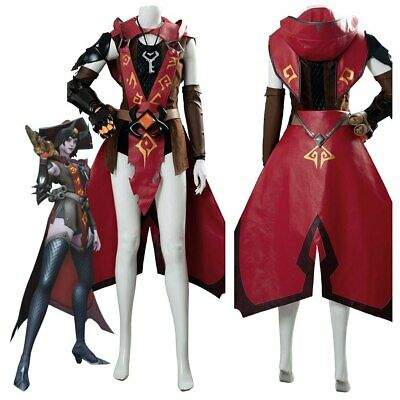 AU110.37 • Buy OW Overwatch Cosplay Ashe Costume Halloween Skin Outfit HAT