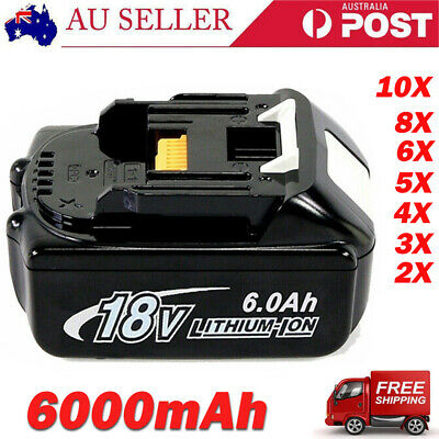 AU49.99 • Buy For Makita 18V 6.0/5.0AH BL1860B BL1850 BL1830 BL1860 BL1840B LXT Li-ion Battery