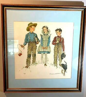 $ CDN1666.75 • Buy Norman Rockwell Pencil Signed  Me And My Pal: Rivals  Artist Proof