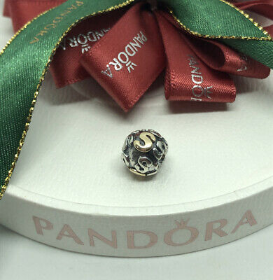 AU129 • Buy Pandora Two Tone Letter S Initial Charm Silver 14k Gold 790298S Retired Genuine