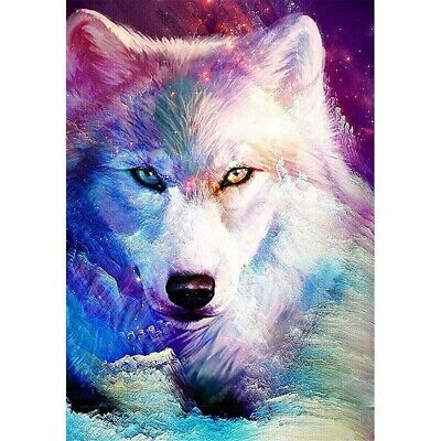 AU16.99 • Buy 5D Diamond Painting Wolf Full Drill Diy Embroidery Cross Stitch Kit Art Gifts