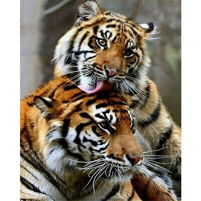 AU16.69 • Buy DIY 5D Tiger Animals Diamond Painting Kits Full Drill Art Embroidery Decors Gift