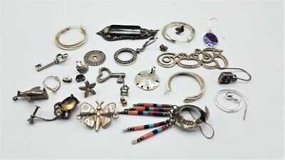 $ CDN15.87 • Buy Marked Or Tested Sterling Silver Scrap Lot W/Stones BT299