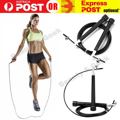 AU8.99 • Buy Skipping Jump Rope Speed 3M MMA Boxing Cardio Gym Exercise Fitness PVC CrossFit