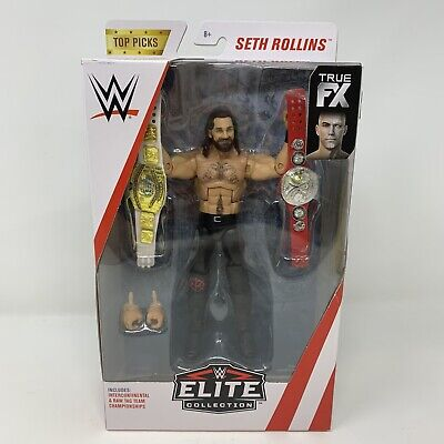 $32.88 • Buy Mattel WWE Elite Collection Top Picks Seth Rollins With Belts True FX Figure NEW