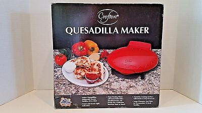 $17.28 • Buy NEW - Crofton Quesadilla Maker, Red, Non-Stick !