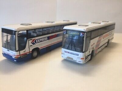 X 2 Corgi Plaxton National Express Model Busses - RE PAINTED - 1/76 • 5£