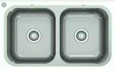 Perth Astracast Double Bowl Inset Or Undermount Stainless Steel Kitchen Sink • 89.99£