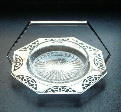 Lewbury, Vintage Glass Butter Dish With Silver Plated Stand • 4.99£