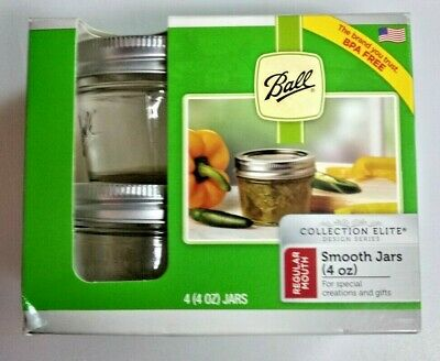 $8.20 • Buy Ball Mason Jar Jelly Jars 4 Oz. Quilted Crystal Reg Mouth-Lot Of 3