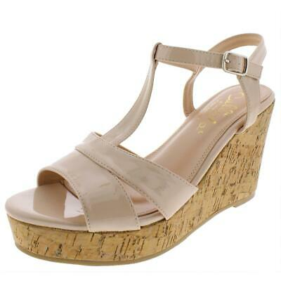 $10.79 • Buy Callisto Of California Womens Aspenn Beige Wedge Sandals 9 Medium (B,M) 3346