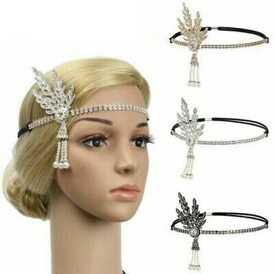£4.99 • Buy 1920s Headband Vintage Bridal Great Gatsby Flapper Party Headpiece Accessories