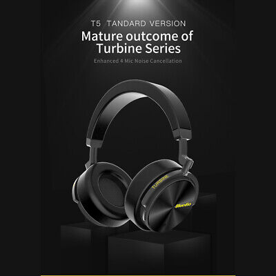 AU28.59 • Buy Bluedio T5 Bluetooth 4.2 Headphones Wireless Stereo Noise Cancelling Headset Mic
