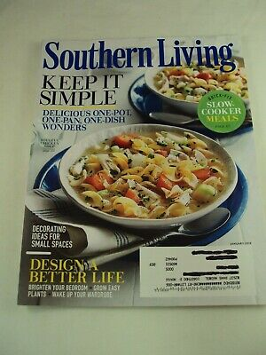 $11.99 • Buy Southern Living ~ January 2016 ~ Keep It Simple , Design A Better Life , Bin C3