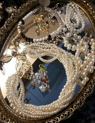 $ CDN12.95 • Buy 💕Lot Of  Vintage Faux Pearl And Bead Necklaces,Brooches,Studs&More!💕
