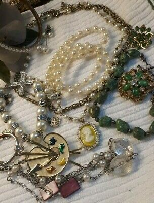 $ CDN12.95 • Buy 💖💕Vintage Lovely Spring Jewelry Lot,Brooches,Necklaces, Braclets,Earrings+💕💖