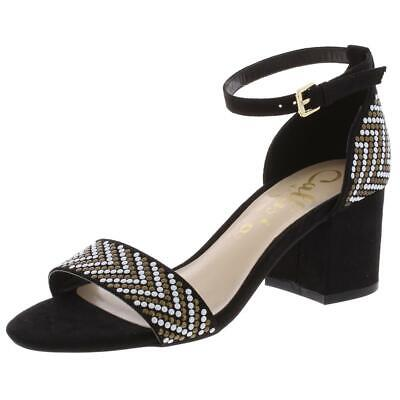 $9.89 • Buy Callisto Of California Womens Nessa Black Dress Sandals 5 Medium (B,M) BHFO 5602