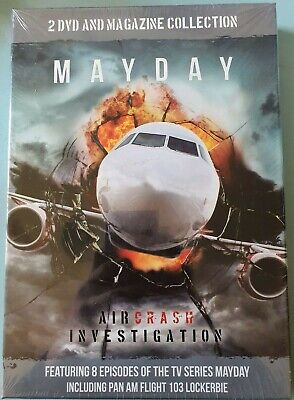 BRAND NEW Mayday: Air Crash Investigation - 2 DVD And Magazine Set • 13.90£