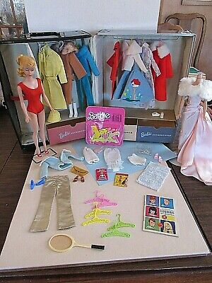 $ CDN274.70 • Buy Vintage Swirl Ponytail Barbie With Clothing, Accessories, & Case - Nice
