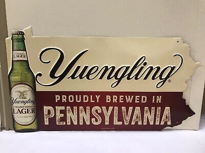 $32.95 • Buy Yuengling Brewed In PA Metal Sign 17.5  W X 10 H