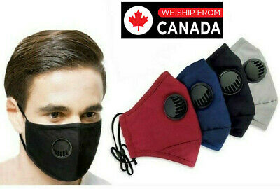 $ CDN8.49 • Buy Washable Reusable Valve Facemask- Filter Pocket And 2 FREE PM2.5 FIlters
