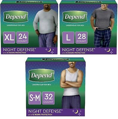 $59.99 • Buy Depend Night Defense Overnight Incontinence Underwear For Men S/M, Large, XL ✔️