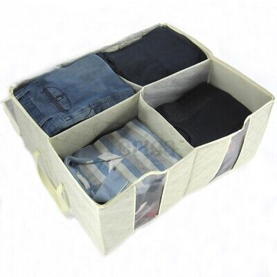 Periea Large Clothes & Bedding Storage Box With 4 Compartments - Cream Or Grey • 6.99£