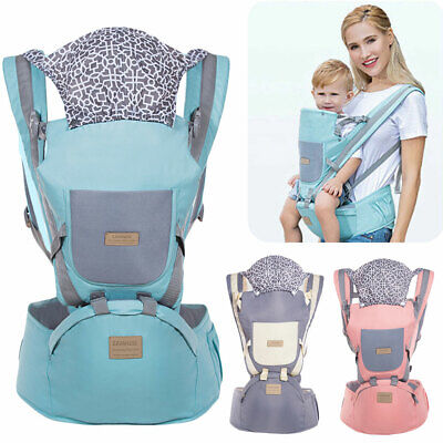 Ergonomic Infant Baby Carrier With Hip Seat Adjustable Wrap Sling Backpack New • 17.17£