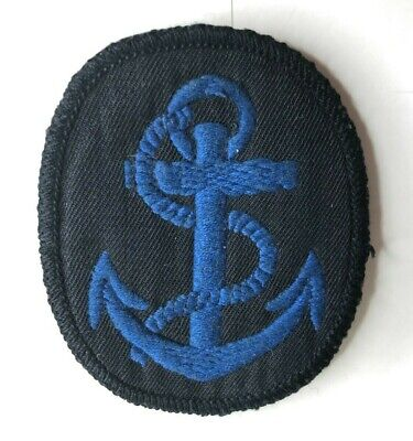 1950's WRNS Womens Royal Naval Service Leading Wren Canvas Badge Patch  • 12£